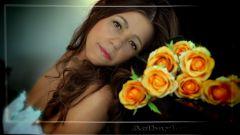 цветы и мама